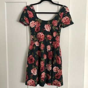 Forever 21 Floral Fit and Flare Skater Dress